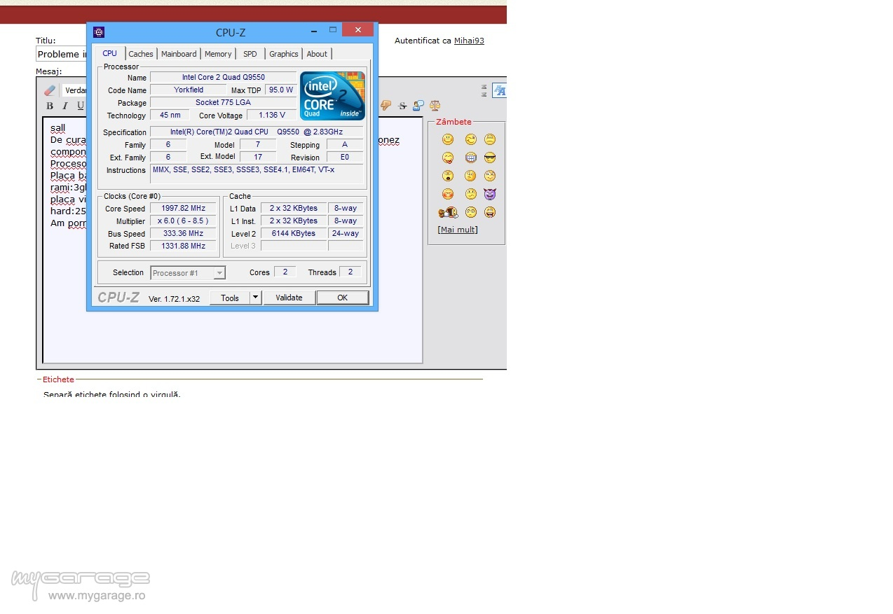 Probleme Intel Core2quad Core 2 Quad Q 9550