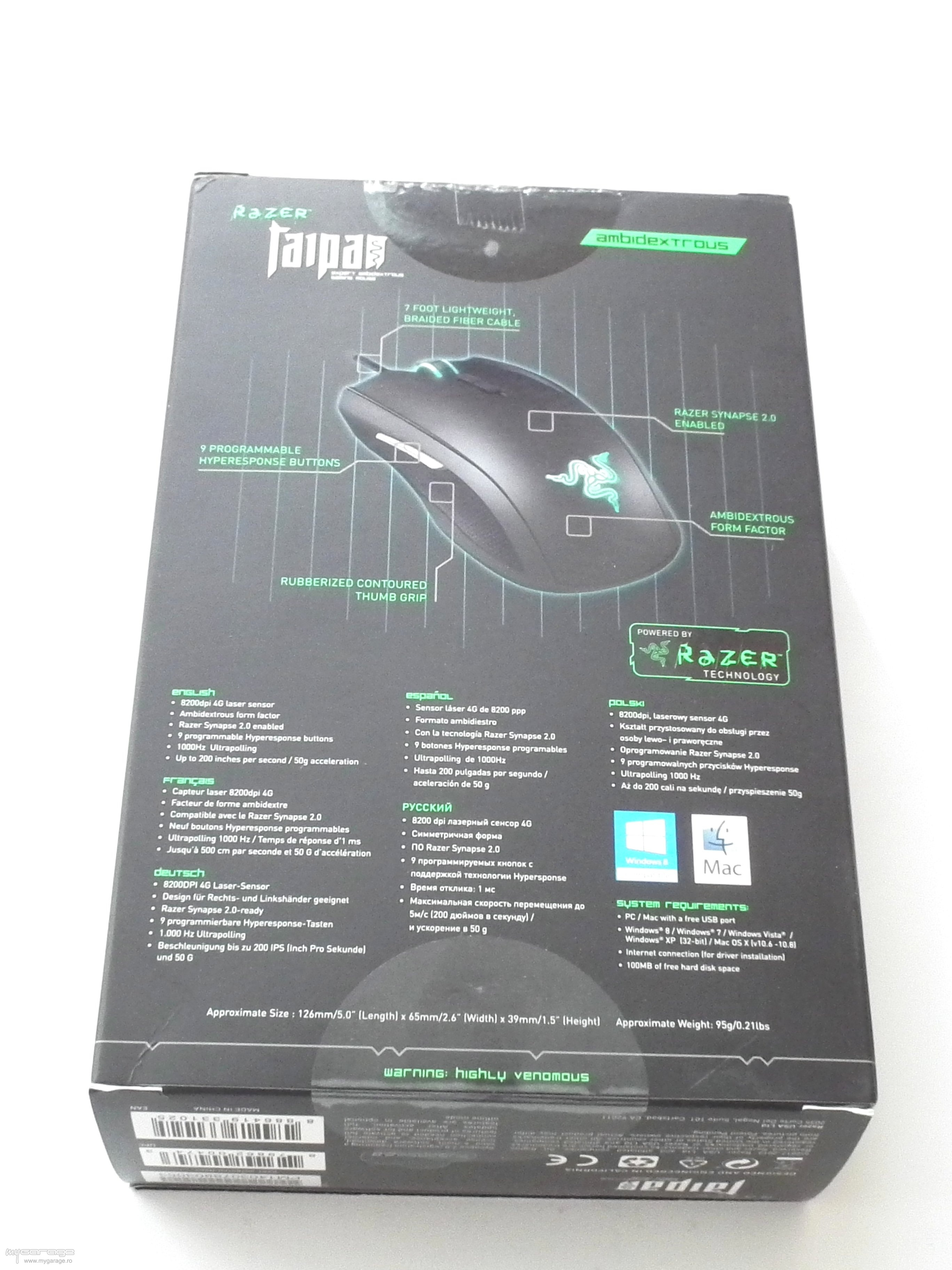 Mouse Gaming Razer Taipan Ambidextrous Dscf1880
