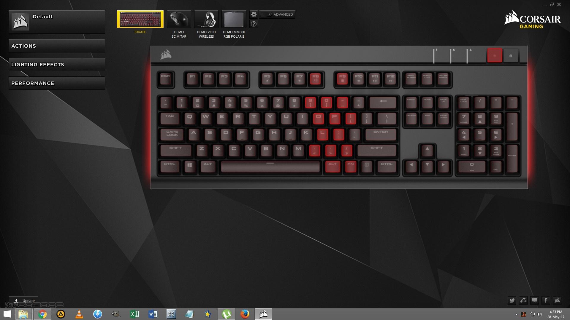 Review Tastatura Gaming Corsair Strafe Red Led Cherry Mx Brown Screen Shot