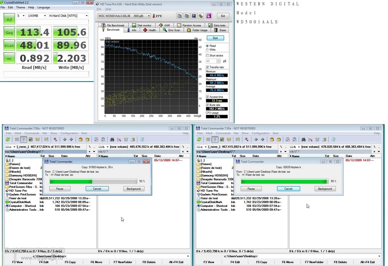 UserBenchmark: WD Black 500GB (2008) WD5001AALS