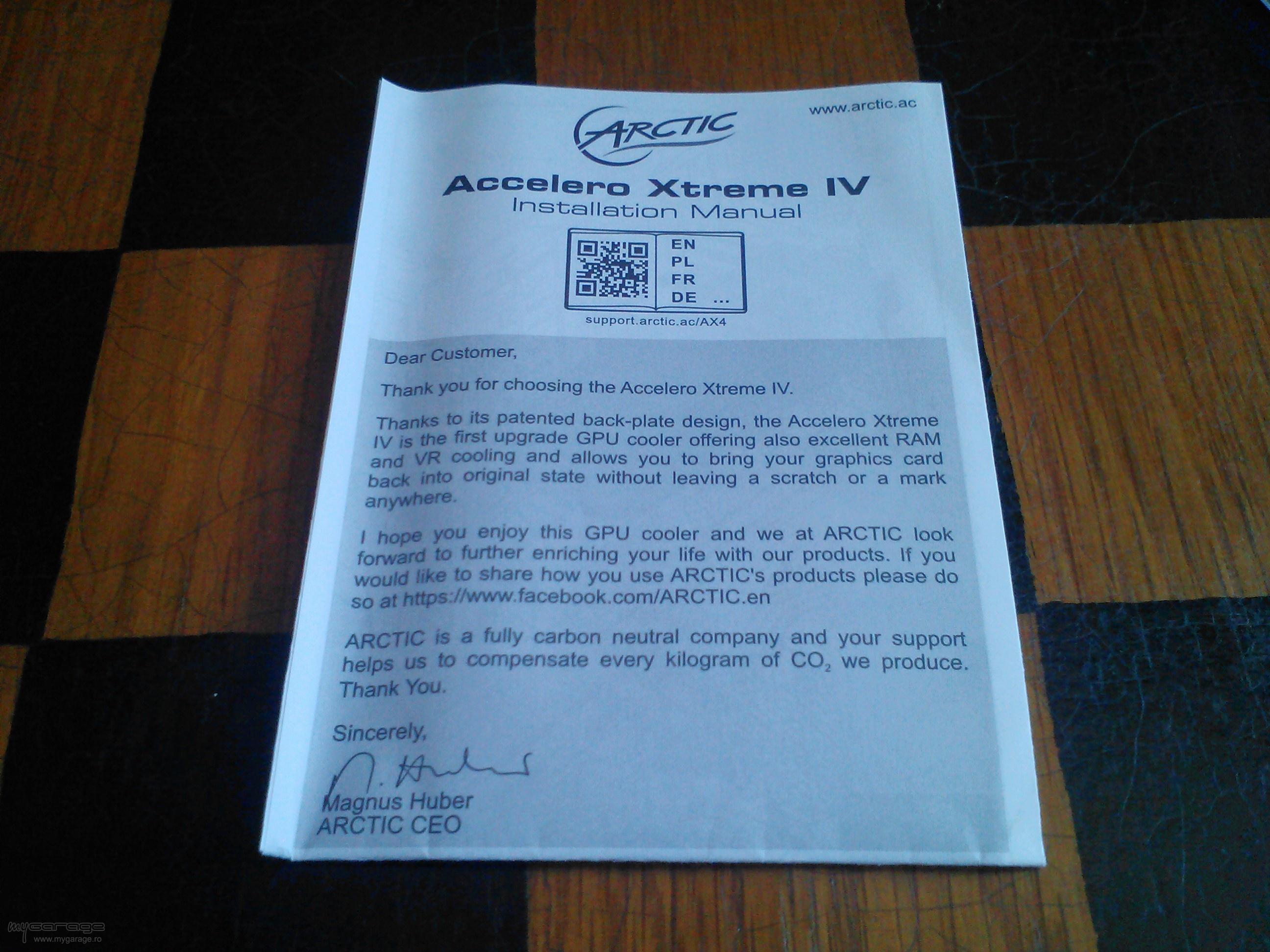 Review Cooler placa video Arctic Accelero Xtreme IV